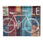The Biking Life Artisan Vanvas Tapestry Wall Art