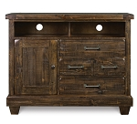 Brenley Natural Umber Wood Media Chest