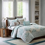 Lola Blue 3 Piece Coverlet Mini Set