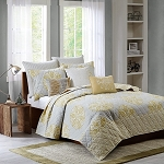 Lola Yellow 3 Piece Coverlet Mini Set