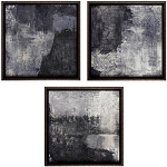 Shades of Grey Abstract Set of 3