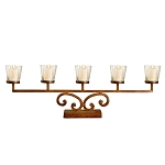 Rustic Prairie Votive Mantle Lighting