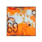 Urban Orange Abstract 40
