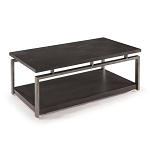 Platinum Charcoal and Gun Metal Cocktail Table