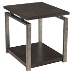 Platinum Charcoal and Gun Metal End Table