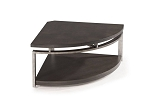 Platinum Charcoal and Gun Metal Pie-Shape Cocktail Table