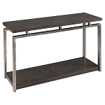 Platinum Charcoal and Gun Metal Sofa Table