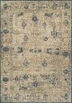Antiquity Teal & Ivory Art Silk & Polypropylene Rug