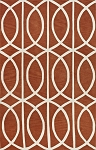 Infinity Pumpkin Poly/Acrylic Plush and Loop Pile Rug