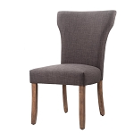 Mary Asphalt Grey Upholstered Dining Chair (Set of 2)
