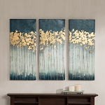 Midnight Forest Gel Coat Canvas with Gold Foil Embellishment 3pcs Set