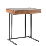 Winston Side Sofa Table w/Mini Pull Out Drawer