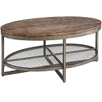 Laramie Metal and Wood Coffee Table