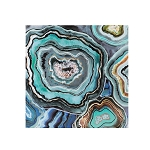 Aqua Agate Printed Canvas Wall Art